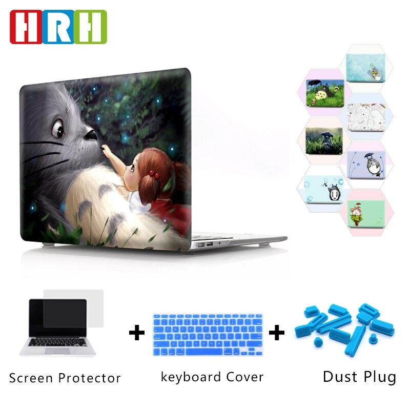 HRH Japanese Anime Cute Totoro Durable Laptop Body Shell PC Hard Case For Mac Air Pro Retina Touch Bar A1989 A1990 A1706 A2159