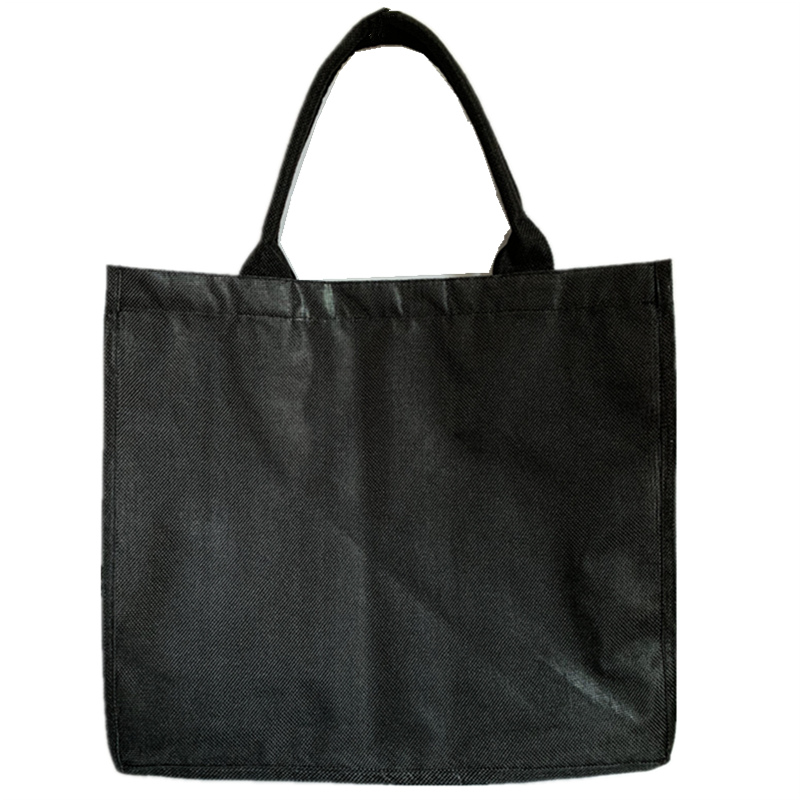 Black Shopping Bag Linen Reusable Bag Large Tote Grocery Bags High Quality Flax Stereoscopic Bag