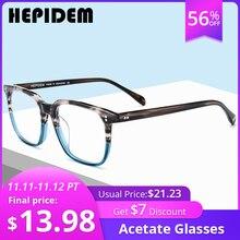 نظارات بمادة الخلات الإطار الرجال مربع وصفة النظارات جديد النساء الذكور Nerd قصر النظر البصرية واضح نظارات نظارات FONEX