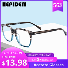 아세테이트 안경 프레임 남성 광장 처방 안경 새로운 여성 남성 괴상한 근시 광학 투명 안경 안경 fonx