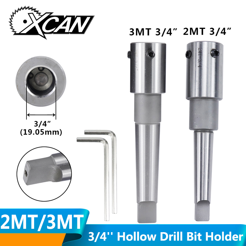 XCAN Morse Taper Arbor MT2/MT3 For Annular Cutter Hollow Drill Bit Clamp Chuck Magnetic Drill Extension Drilling Tool Holder
