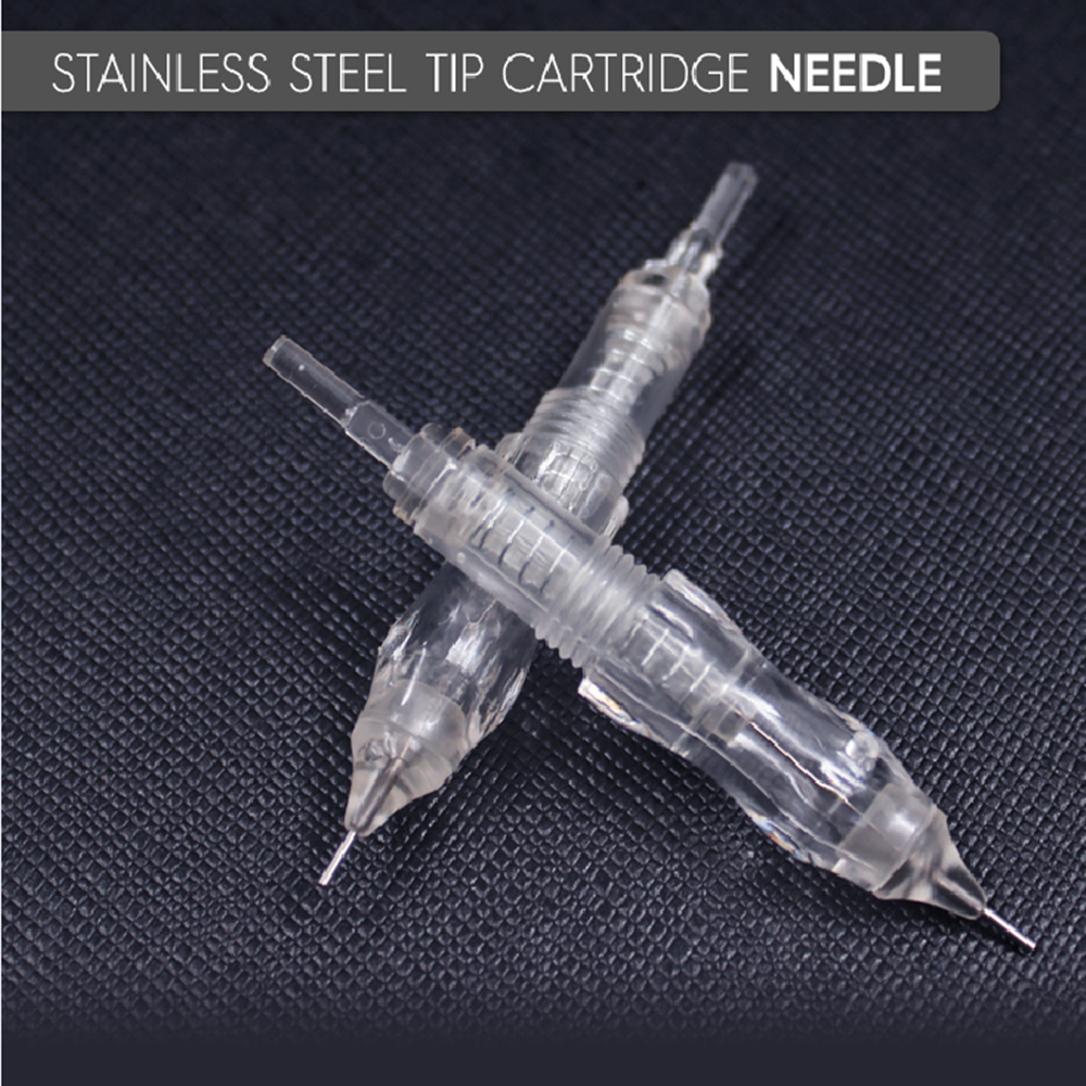 Biomaser 10PCS Tattoo Needles Stainless Steel Permanent Makeup Catridges Needle For Tattoo Rotary Machine Kit Eyebrow Needle 1R