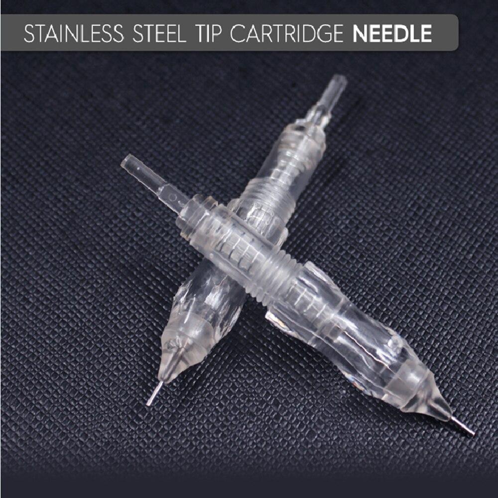 Biomaser 10PCS Tattoo Needles Stainless Steel Permanent Makeup Catridges Needle For Tattoo Rotary Machine Kit Eyebrow Needle 1R