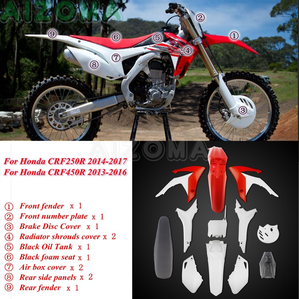 As Picture US SELLER New Honda CRF OFFRoad Motorcycle keychain Rubber