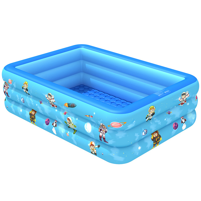 120/130/150/180/210cm Children Home Use Paddling Pool Large Inflatable Square Swimming Pool Kids Inflatable Pool For 1-5 Persons