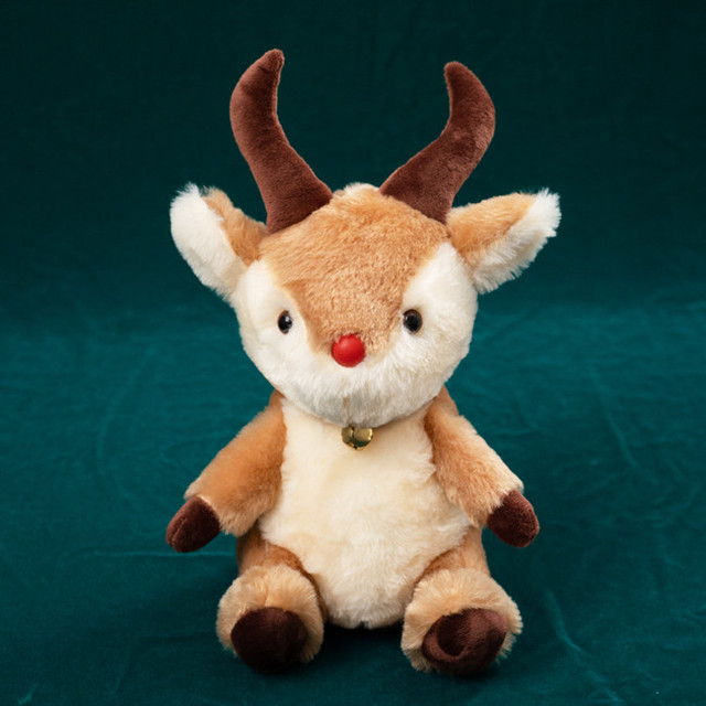 1pc 25cm New Christmas Deer Mouse Antelope Plush Toy Lovely Animal Doll for Kids Baby Cute Soft Gift Brinquedos