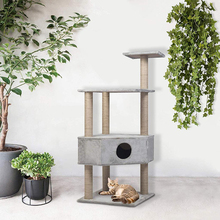 Cat Tree Modern Pet Toy Scratching Post Grey Cat Tower Climbing Frame фото