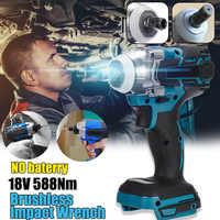 18V 588Nm Elettrico Brushless Avvitatore Ricaricabile 1/2 Socket Wrench Strumento di Potere Senza Fili Senza Batteria Accessori