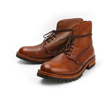 New handmade tooling shoes vintage men genuine cow leather ankle