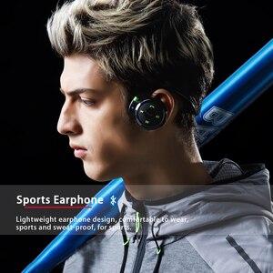Image 4 - Plufy sem fio bluetooth esporte fones de ouvido rádio mp3 player neckband fone estéreo suporte cartão memória