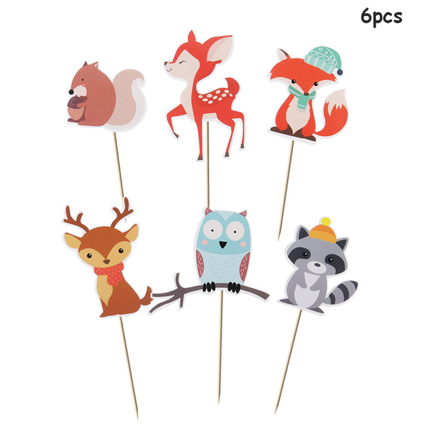 Pack of 50 Hedgehog Fox Raccoon Woodland Animals MW21851 Baby Shower Napkins