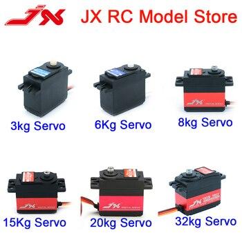 JX RC araba Servo (3kg 6kg 8kg 15kg 20kg 30kg) analog ve dijital standart Servo direksiyon kolları için 1/8 1/10 1/12 Rc Model araba
