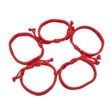 5pcs/lot Unisex Jewelry Double Layer Red String Handmade Braided Rope Men Women Hand Strap Charm Bracelet