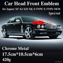 1Pcs Voor Hood Head Badge Covers Voor Jaguar Xf Xj Xjs Xk S TYPE X TYPE Oem Auto Styling Originele Ontwerp accessorie Auto Embleem
