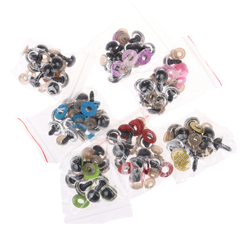 10 Sets 16MM Stuffed Toys Glitter Safety Eyes Nonwovens Washer Clear Doll Eyes Dolls Accessories