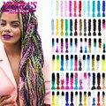 Зеркальные плетеные удлинители волос Mirra's с эффектом омбре, 24 дюйма, Джамбо плетеные синтетические волосы для вязания крючком, черные, корич...