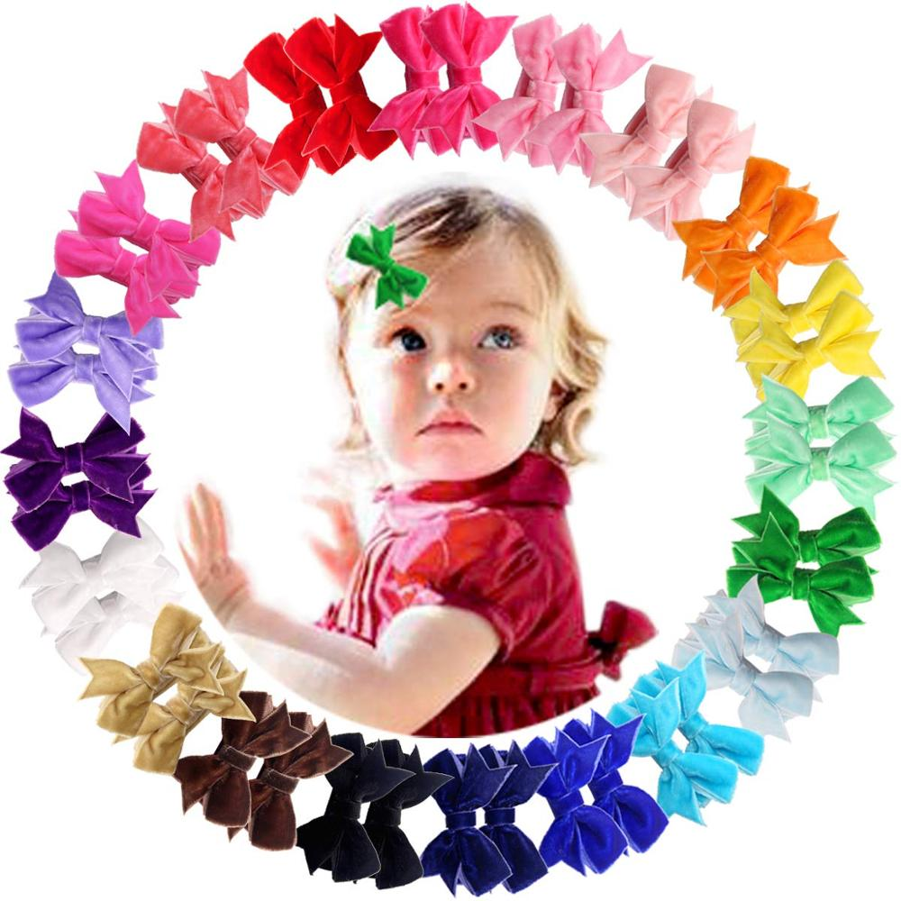 40 Pcs Lots Boutique Baby Girls Hair Bows Kids Alligator Hair Clips Women New