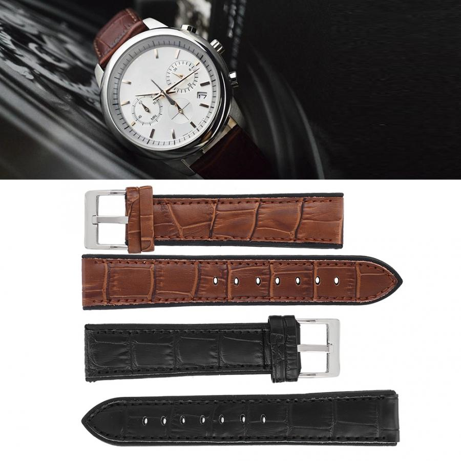 Watch Accessory Universal Bamboo Grain Watchband Strap Replacement Watches Band Watch Accessory Genuine Leather Watch Strap