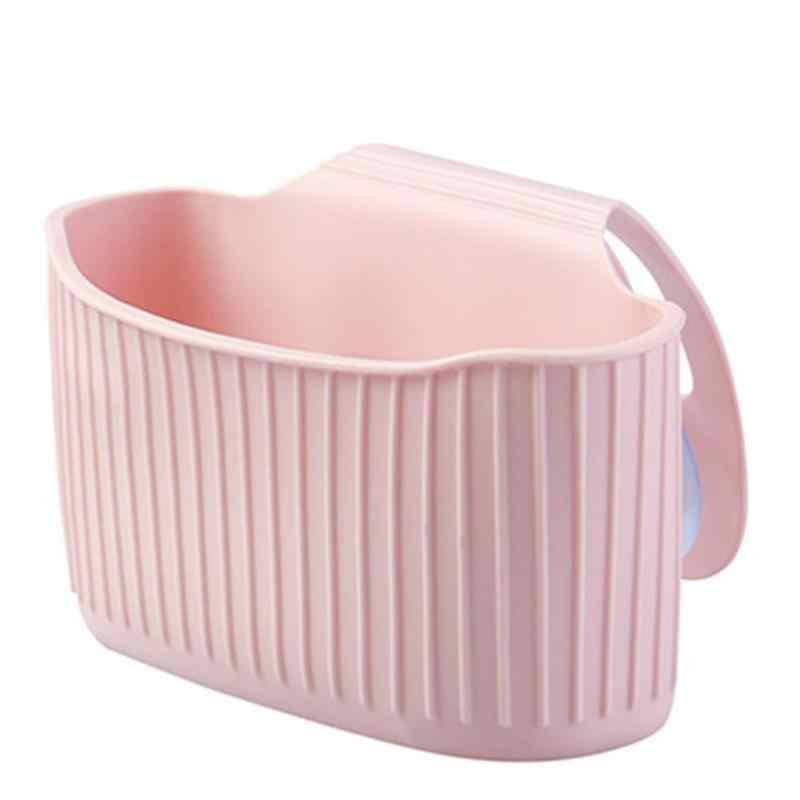מטבח כיור מדף ניקוז תלוי מתלה יניקה כוס מייבש ברז קיר אחסון סלי עמיד PVC בית סחורות מחזיק