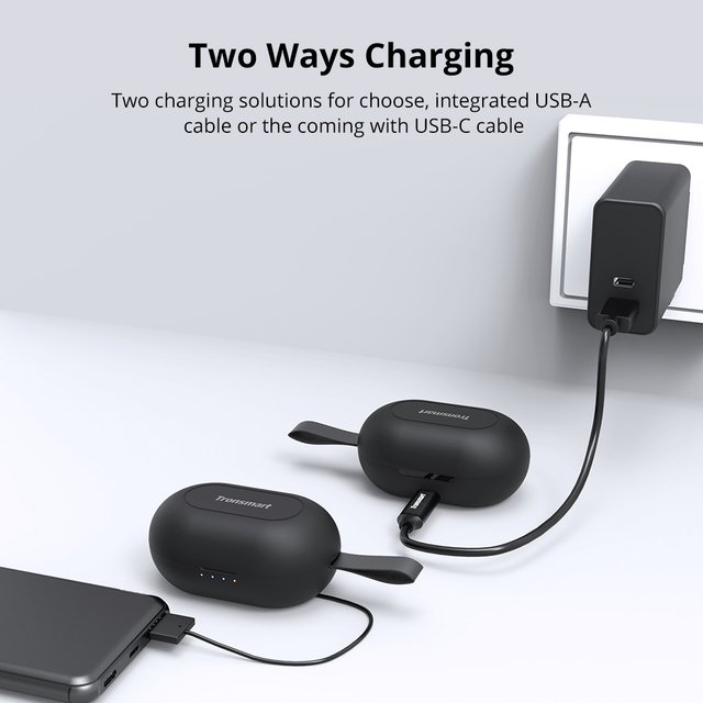 [Newest Version] Tronsmart Spunky Beat Bluetooth TWS Earphone APTX Wireless Earbuds with QualcommChip, CVC 8.0, Touch Control 3