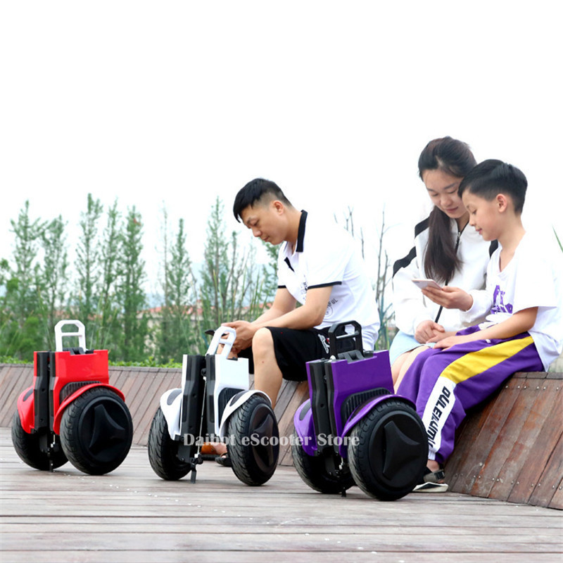 Daibot Off Road Electric Scooter Foldable 2 Wheels Self Balancing Scooters Double Drive 250W 36V Hoverboard Skateboard Bluetooth (24)