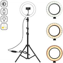 """10.2"""" LED Ring Light Photographic Selfie Ring Lighting with 50 70 160 125cm Tripod Stand for Youtube Live Video Studio Tik Tok"""