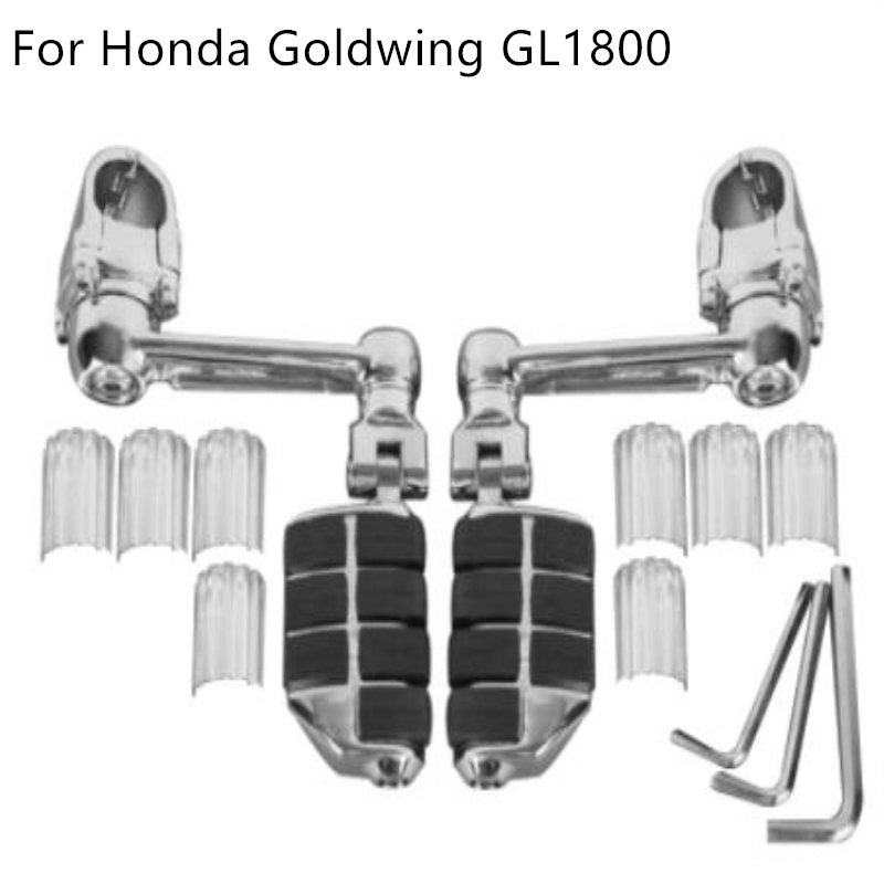 Motorcycle Adjustable Aluminum Foot Rest Foot Pegs For Honda Goldwing GL1800 22mm 30mm 35mm