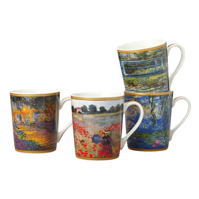 Set mugs CASA DOMANI, Monet, 4 subject set mugs casa domani van gogh 4 subject