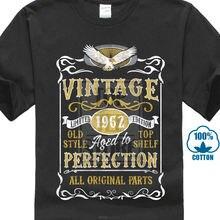 Винтажная футболка сделанная в 1962 году для новорожденных подарок