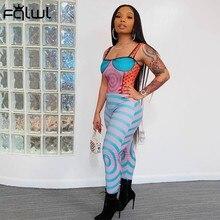 FQLWL tuta senza maniche aderente aderente da donna Streetwear tuta intera senza schienale pagliaccetto 2021 tuta elastica femminile Skinny da donna