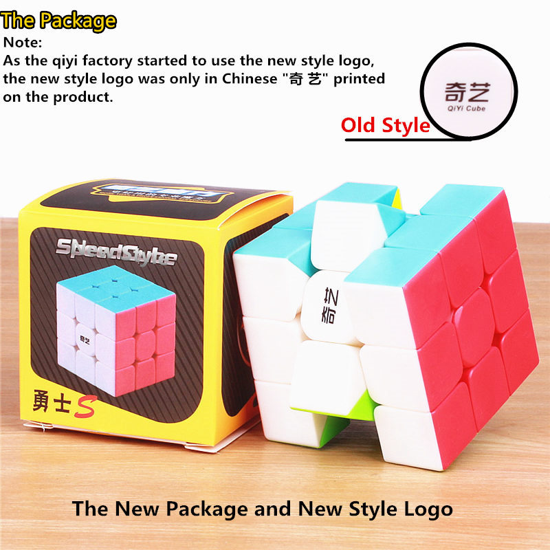 Купить с кэшбэком qiyi warrior s Magic Cube Colorful stickerless speed 3x3 cube antistress 3x3x3 Learning&Educational Puzzle Cubes Toys