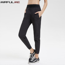 Women Yoga Pants Mesh Patchwork Gym Workout Sports Leggings Pencil Capris Breathable Pocket Running Trousers Slim Fitness Tights