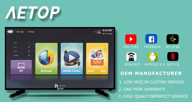 FREIES verschiffen 32 zoll 43 zoll tv smart 2k ultra hd LED tv fernsehen 2k smart tv