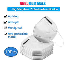 N95 Respirator Mask KN95 Dustproof Anti-fog And Breathable Face Masks 95% Filtration N95 Masks Features as KF94 FFP2 Korea Fast Delivery 24h