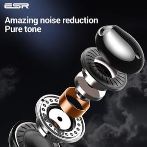 Image 5 - ESR סוג C ממשק Wired אוזניות נייד אוניברסלי רעש ביטול אוזניות HIFI קול ספורט אוזניות לxiaomi Huawei
