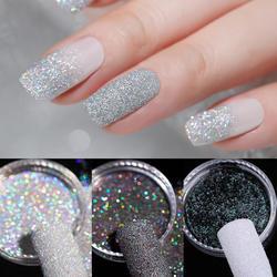 Градиент Блестящий Блеск для ногтей комплект порошок лазера блестящие Маникюр Nail Art Chrome пигмент Серебро DIY Nail Art декоративный комплект