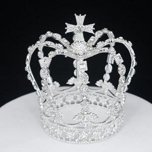 Image 5 - Crystal Vintage Royal Queen King Tiaras and Crowns Men/Women Pageant Prom Diadem Hair Ornaments Wedding Hair Jewelry Accessories