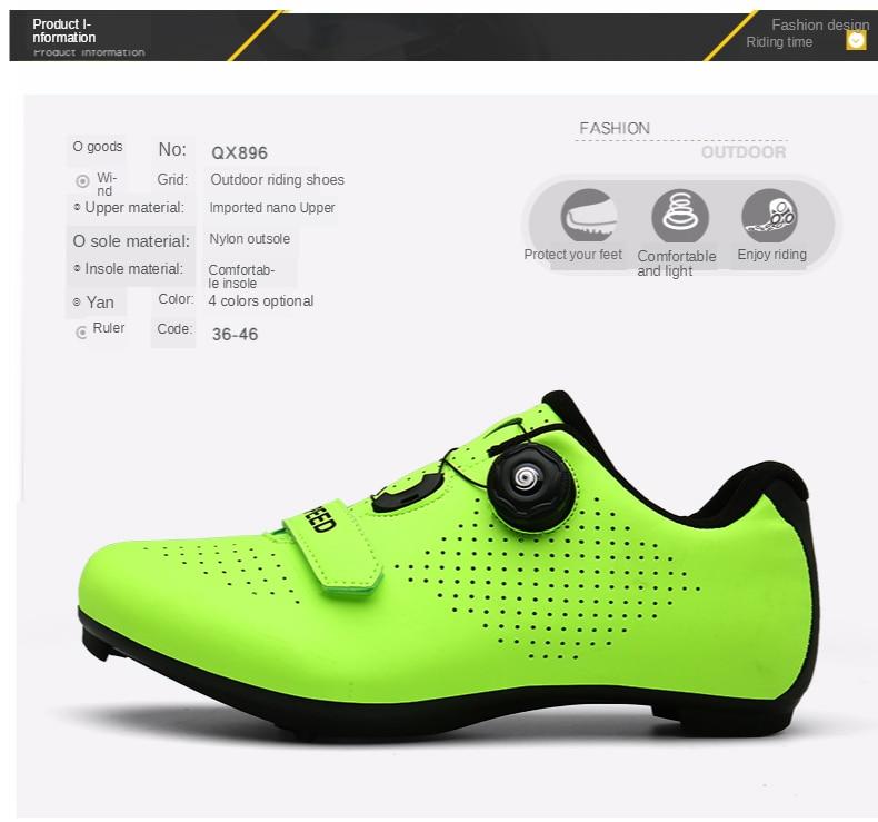 Ciclismo de estrada sapatos de ciclismo sapatos