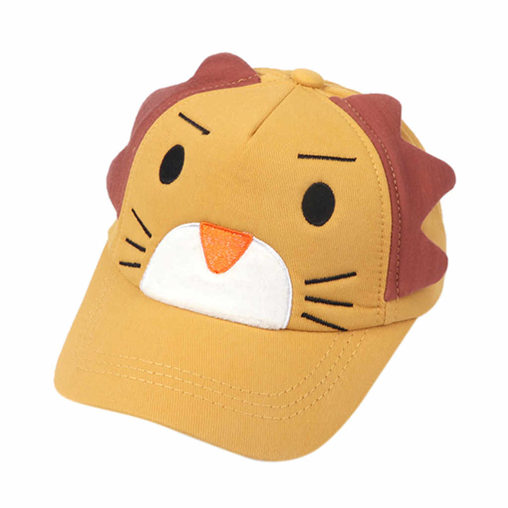 Baby Boy per Bambini Cappelli Lion Cute Cuartoon Morbido Cotone Sunhat Chlidren Gronda Berretto da Baseball Casual Cappello per Il Sole Ragazze Dei Ragazzi Berretto ha Raggiunto Il Picco Cappellini
