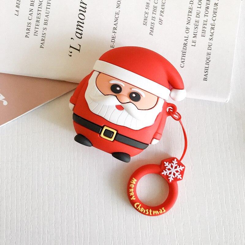 Мультфильм Санта Снеговик AirPods защитный чехол беспроводной Bluetooth наушники чехол для гарнитуры Универсальный 1/2 поколение