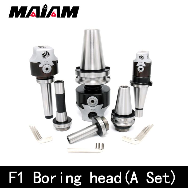 f1 boring a set nt30 nt40 bt30 bt40 c20 c25 r8 mt2 mt3 mt4 m10 m12 m16 f1 1pcs+tool holder + wrench 3pcs + boring tool rod 9pcs|Tool Holder|   - AliExpress