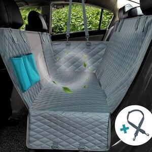 Dog Car Seat Cover 100% Waterproof Pet Dog Travel Mat Mesh Dog Carrier Car Hammock Cushion Protector With Zipper and Pocket(China)