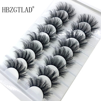 HBZGTLAD 2/8/20 Pairs 3D Mink Hair False Eyelashes Natural/Thick Long Eye Lashes Wispy Makeup Beauty Extension Tools 1