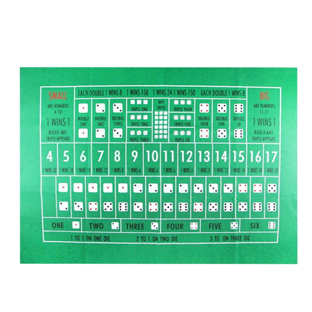 90x60 см TX холдем скатерть фланелевая 21 точка игральные кости Настольный коврик для казино семейвечерние Покер игры развлекательные игрушки настольные игры-3