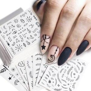 68pcs Water Transfer Nail Art Sticker Set Black Lace Flower Leaf Decal Slider Wraps Tips Decor DIY Manicure New SASTZ808-855(China)