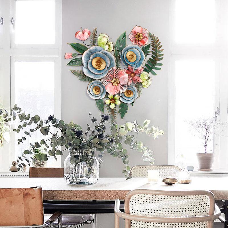 Гостиная Цветочные настенные наклейки украшения творческий дом кованого железа Висячие - 3