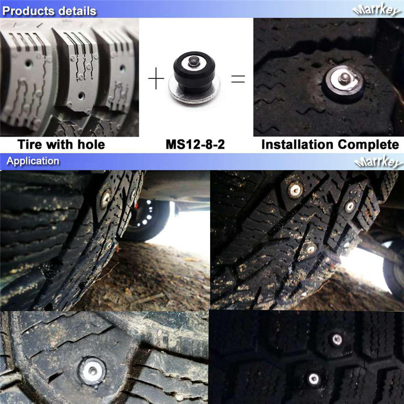 do pneu do inverno parafusos do pneu