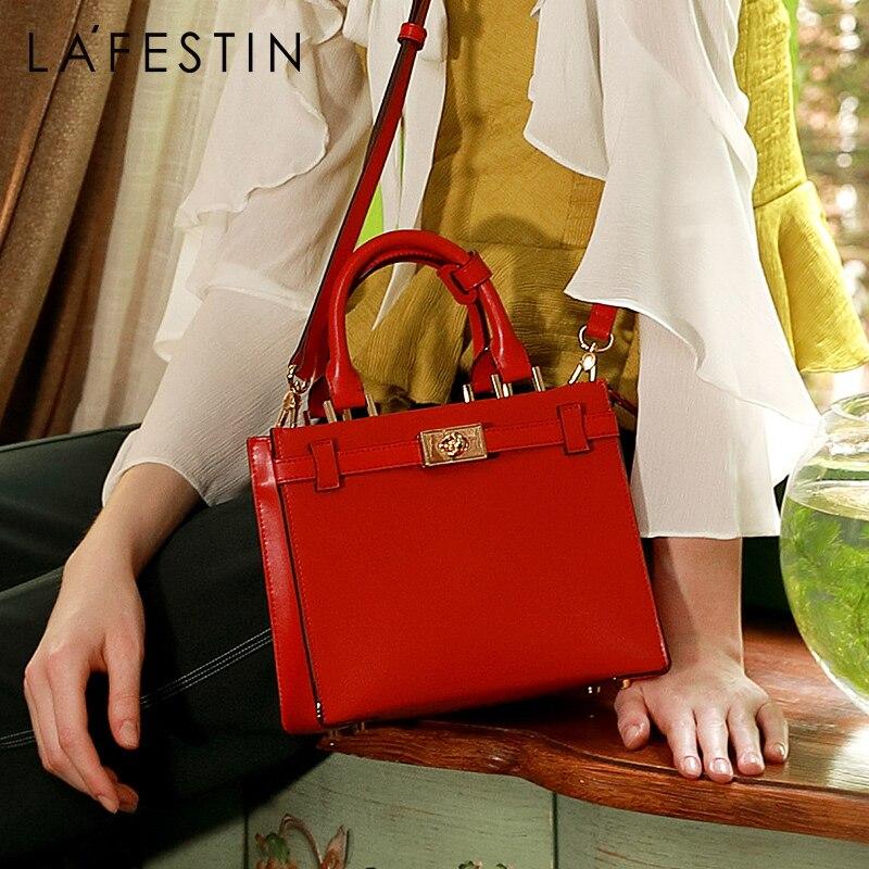 LA FESTIN 2019 nuove borse di lusso borse delle donne del progettista borsa di cuoio di grande capienza del sacchetto di spalla del sacchetto del Messaggero femminile-in Borse a tracolla da Valigie e borse su  Gruppo 1