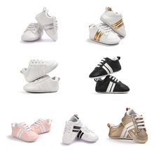 New Baby Moccasins Infant Anti-slip PU Leather First Walker Soft Soled Newborn 0-1 Years Sneakers Branded Baby Shoes(China)