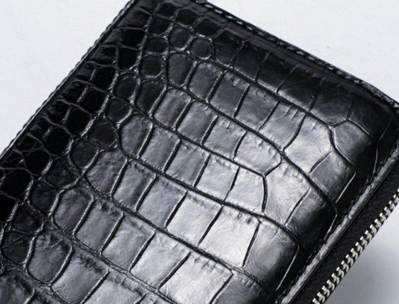 Couro de crocodilo novo clássico carteira dos